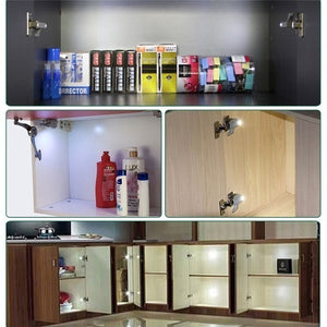 Cabinet Closet Automatic LED Hinge Light White Intelligent Induction lamp Home Kitchen Supplies(NOT INCLUDE BATTERY)