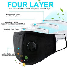 Load image into Gallery viewer, New Face Mask Dust Mask Anti Pollution Masks PM2.5 Activated Carbon Filter Insert Can Be Washed Reusable