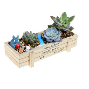 New Wooden Garden Planter Trough Pot Window Box Succulent Flower Bed Pot