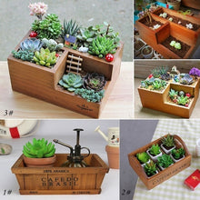 Load image into Gallery viewer, New Wooden Garden Planter Trough Pot Window Box Succulent Flower Bed Pot