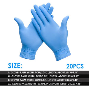 20/50/100pcs/set Disposable Gloves Rubber Nitrile Cleaning Gloves