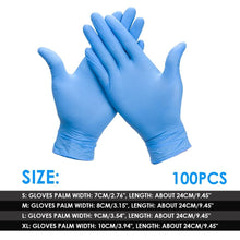 Load image into Gallery viewer, 20/50/100pcs/set Disposable Gloves Rubber Nitrile Cleaning Gloves