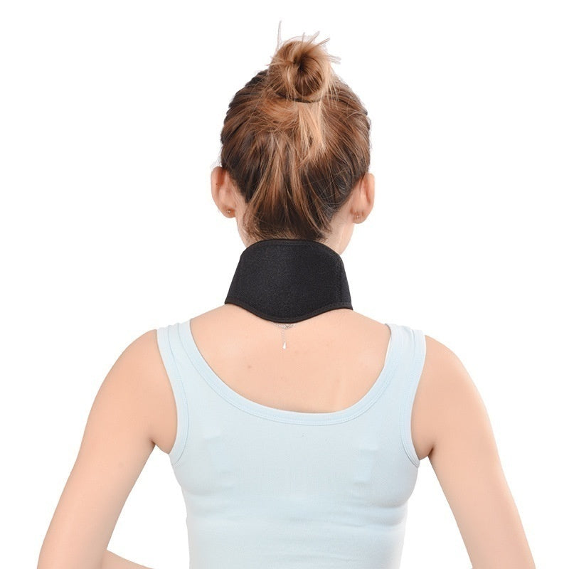 Self Heating Magnetic Neck Heat Therapy Set Support Wrap Belt Brace Health Care Random Color