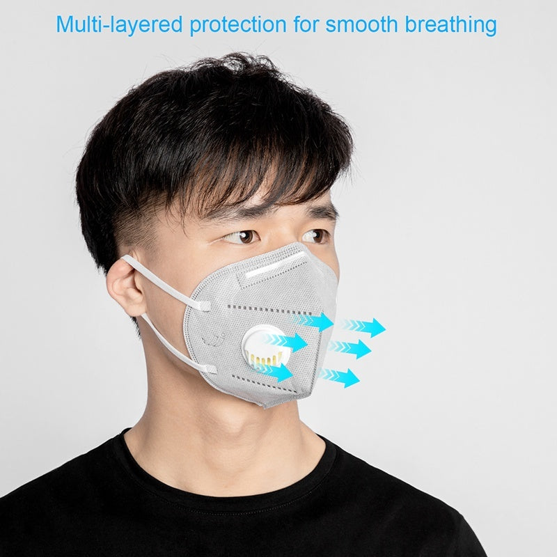 20 PCS KN95 Folding Breathing Valve Mask Disposable Mask PM2.5 Dust-proof Breathable Mask