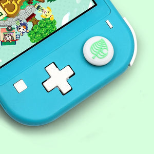 4PCS/Set Silicone Leaf Joystick Thumb Grip Caps for Switch Lite Joy-con Stick Analog Grip Protector Case Cover