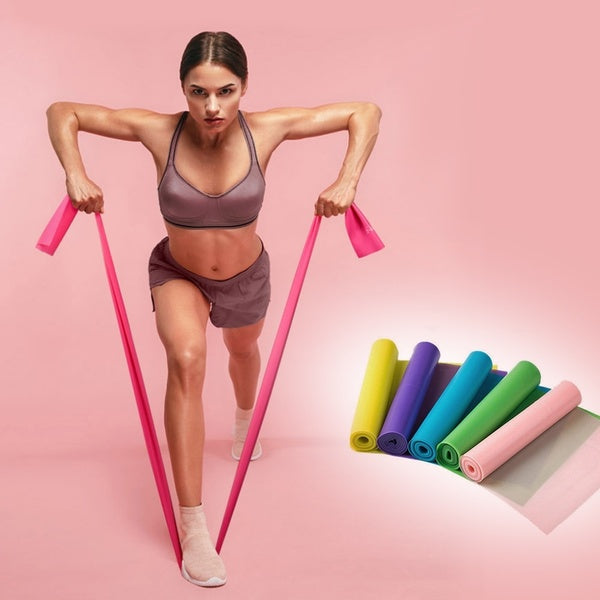 150/180/200CM Fitness Exercise Resistance Bands Rubber Yoga Elastic Band Resistance Band Loop Rubber Loops For Gym Training