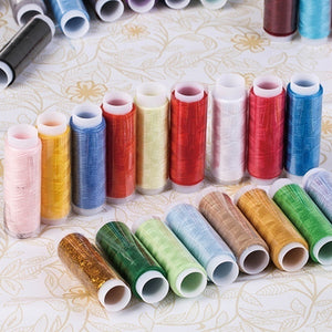 Fashion 39PCS/5PCS Mixed Colors Polyester Spool Sewing Thread
