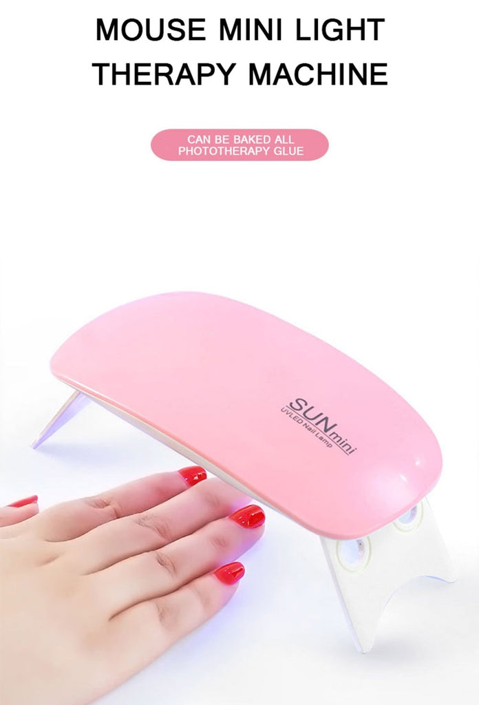 6w Nail Lamp For Manicure UV LED Nail Lamp For Nail Art USB Nail Dryer For Drying Gel Polish Varnish Hybrid Mini Ice Lamp