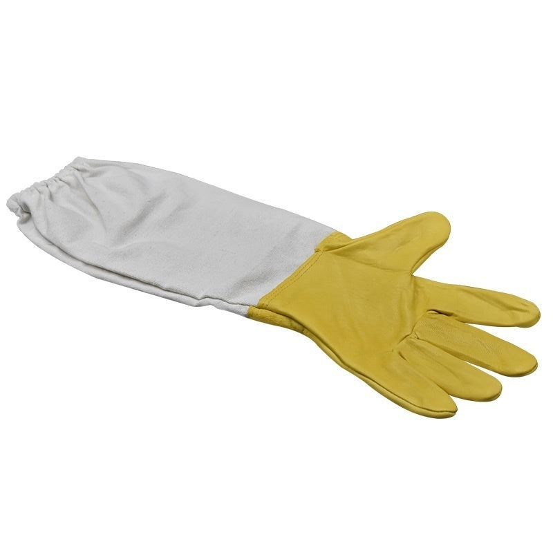 Beekeeping Gloves Protective Sleeves Ventilated Sheepskin and Canvas Anti Bee for Apiculture Beekeeping Gloves