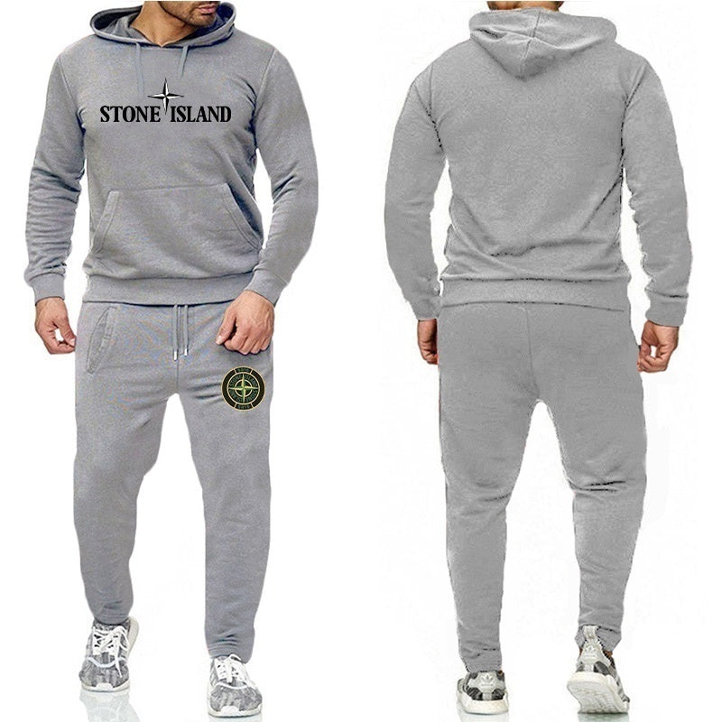New men's casual suit outdoor sports suit fashion sportswear hooded trousers