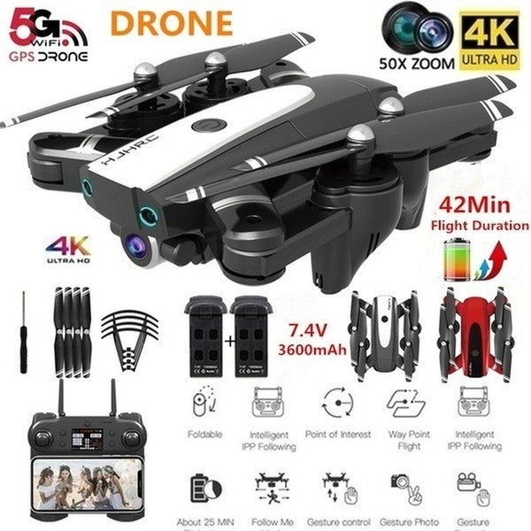 The latest upgraded remote control drone S167 Pro quadrotor drone with 1080P / 4K (4096P) HD FPV 120 ¡ã wide-angle camera + optical flow positioning + V gesture + gesture video + 5G Wifi real-time transmission + long-term flight + gravity sensing