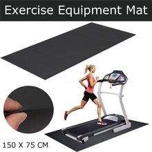 Load image into Gallery viewer, Treadmill Mat Exercise Gym Equipment Go Fit For Treadmill Bike Protect Floor Black
