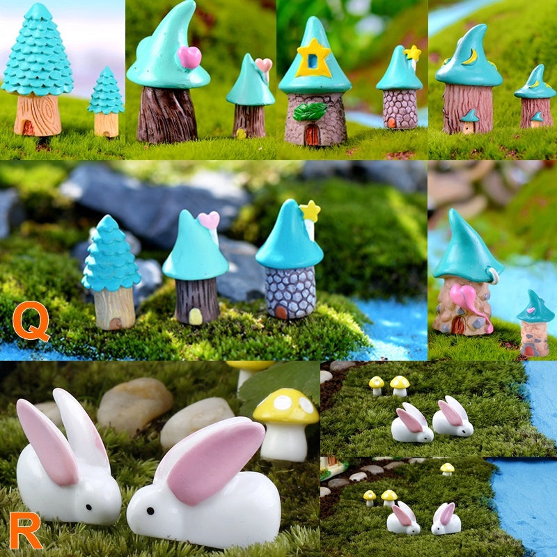 Fairy Garden Miniatures Micro Landscape Figurines Garden Decor Accessories Bonsai Ornaments Lovely Cute Small Animal Figurines