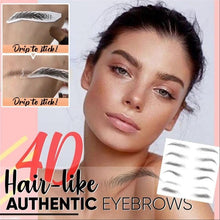 Load image into Gallery viewer, Magic 4D Hair-like Eyebrow Tattoo Sticker False Eyebrows Waterproof Lasting Makeup Water-based Eye Brow Stickers