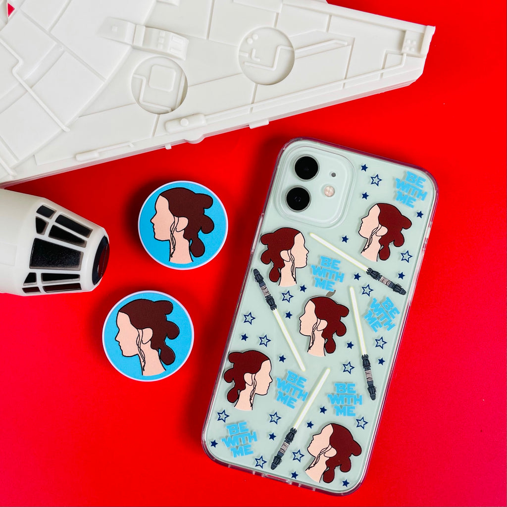 Be With Me Rey Phone Case and Phone Pop Socket Grip