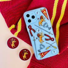 Load image into Gallery viewer, Brave and Courageous Gryffindor House Phone Case and Phone Pop Grip Socket