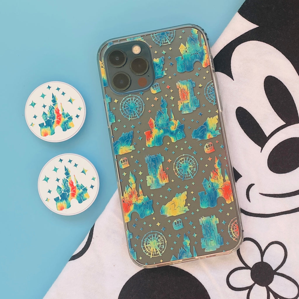 Anaheim Parks Icons Castle Phone Case and matching Phone Grip