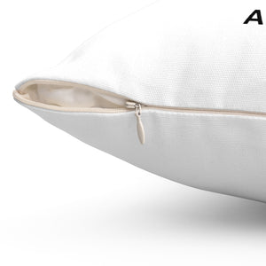 White AOC Polyester Square Pillow