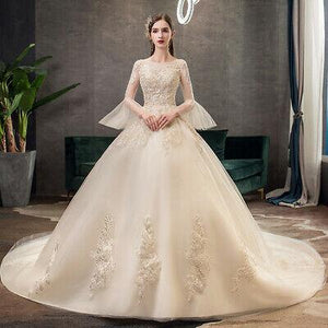 Train Wedding Dress