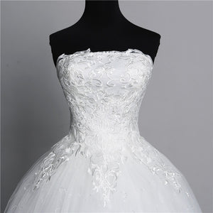 Simple Lace White Fashion Sexy Wedding Dresses
