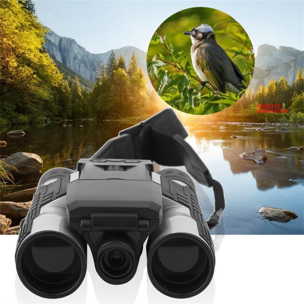 "Wow Gadget Shop 12x32 HD Black Binoculars Telescope Full HD 1080P Digital Camera 2.0"" LCD Folding with Built-in Digital Camera"