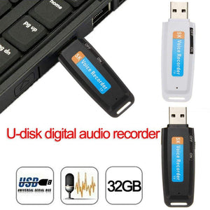 Wow Gadget Shop 2020 New arrival U-Disk Digital Audio Voice Recorder Pen charger USB Flash Drive up to 32GB Micro SD TF High Quality J25