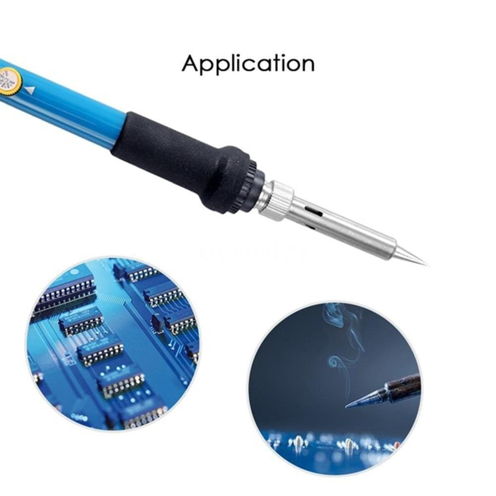 Wow Gadget Shop 6/28Pcs Electric Adjustable Temperature Welding Soldering Iron Kit Tool Wood Embossing Burning Soldering Pen Set EU US Plug