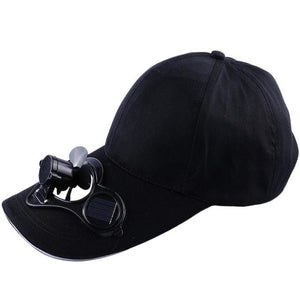 Wow Gadget Shop Black SOLAR POWERED COOLING HAT