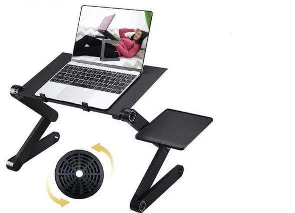 Wow Gadget Shop Black with fan Adjustable ergonomic aluminum laptop desk