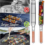 Wow Gadget Shop Easy Kebab Barbecue Baskets Portable Stainless Steel Nonstick Barbecue Grill Basket Tools Outdoor For Barbecue Accessories