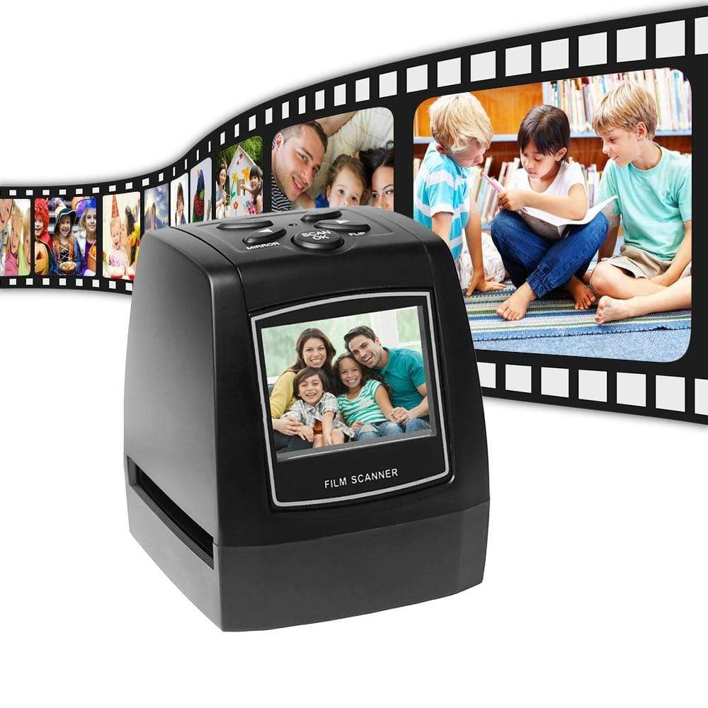 "Wow Gadget Shop Negative Film Scanner 35mm 135mm Slide Film Converter Photo Digital Image Viewer with 2.4"" LCD Build-in Editing Software"