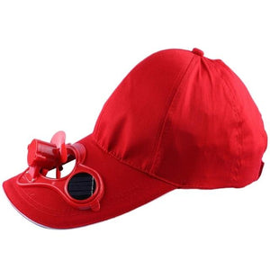 Wow Gadget Shop Red SOLAR POWERED COOLING HAT