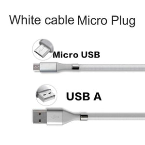 Wow Gadget Shop White Micro plug / 0.9m Super Calla Self Winding USB Magnetic Absorption Magic Fast Charging Data Cable Neatest Durable Charging Cable For Apple IPhone