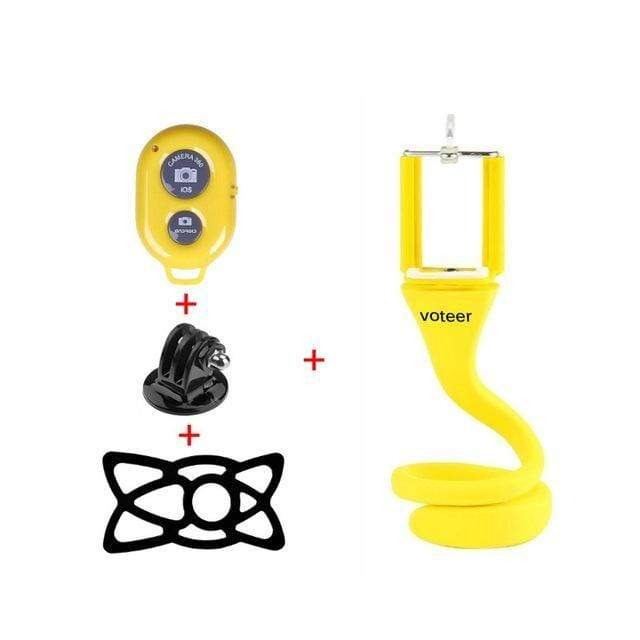 Wow Gadget Shop Yellow with remote Supreme Flexible Selfie Stick