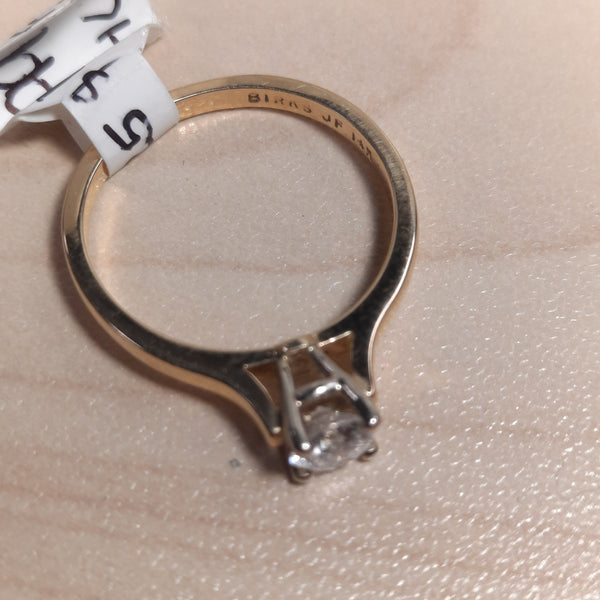 14KT Birks Diamond Solitaire