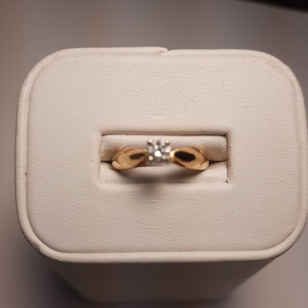 14k .25ct Round Brillant Solitaire
