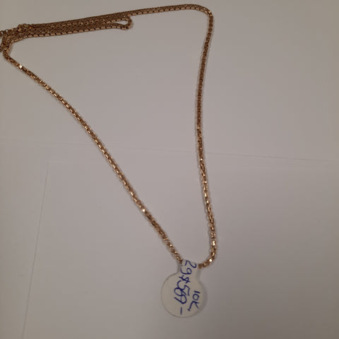 "24"" Box Link Necklace Yellow Gold 10k"