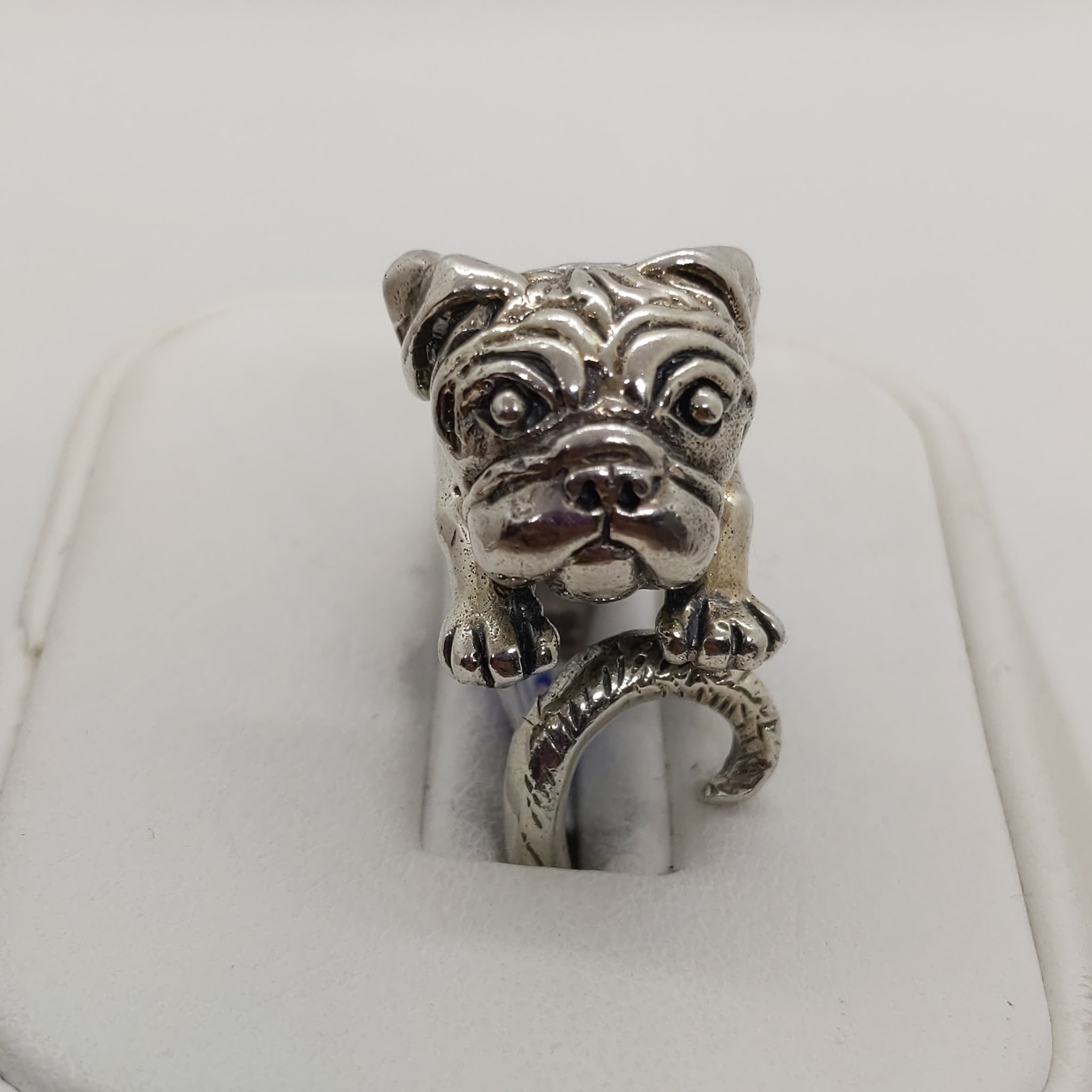 Bulldog Silver Ring .925