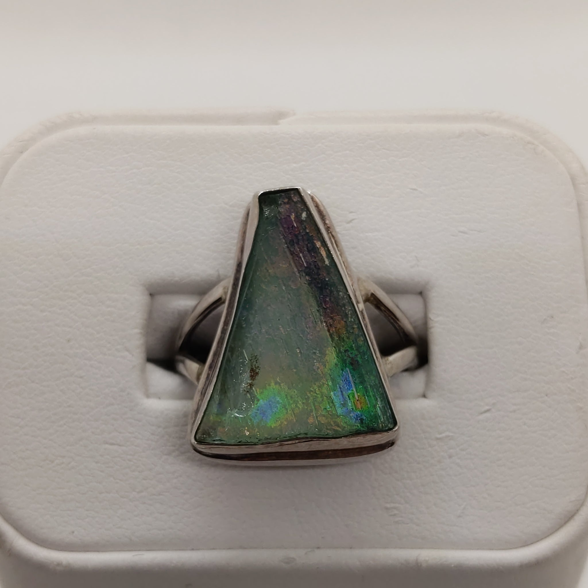 Seaglass Silver Ring .925