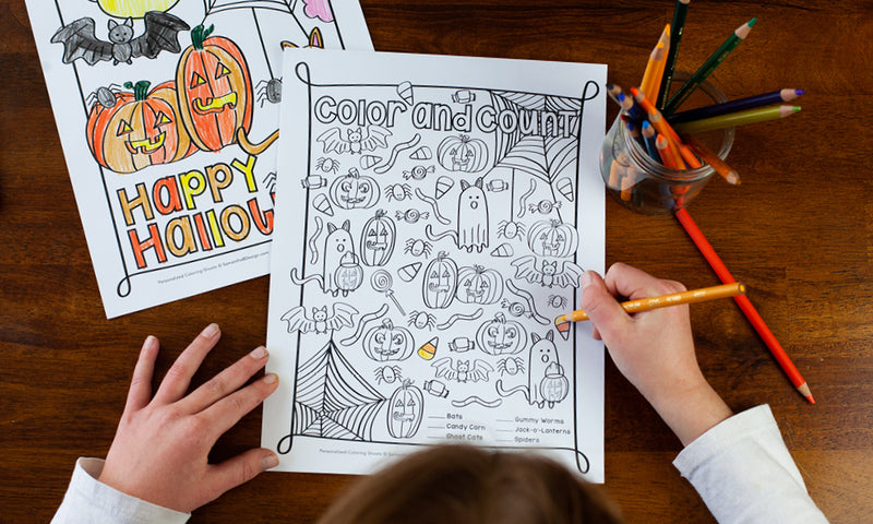 Free Halloween Count and Color Activity Download for Kids