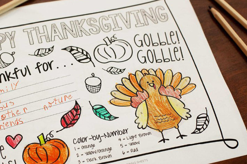 Free Download | Kid's Thanksgiving Activity Printable Coloring Sheet