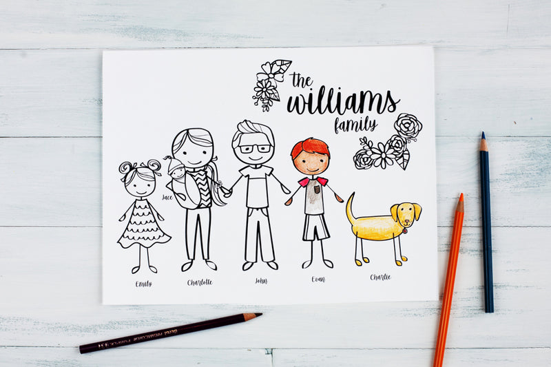 Personalized Gifts and Coloring Sheet Activities (Great Gifts for Young Kids!)