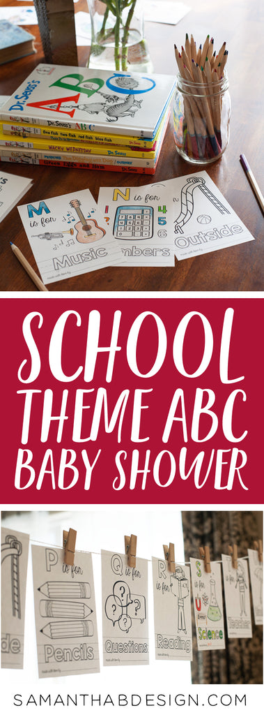 School Theme ABC Book for Teacher Gift