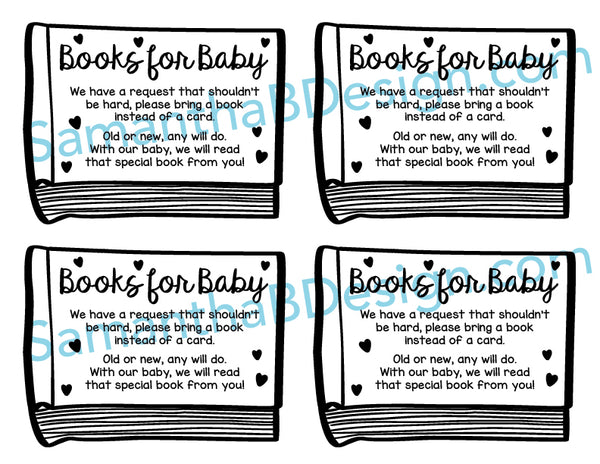 Bring a Book Insert Card Preview