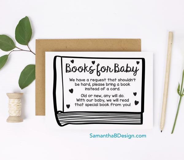 Bring a Book insert card freebie from Samantha B Design