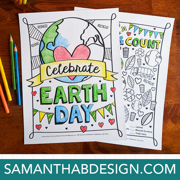 Free Earth Day Coloring Sheet Download