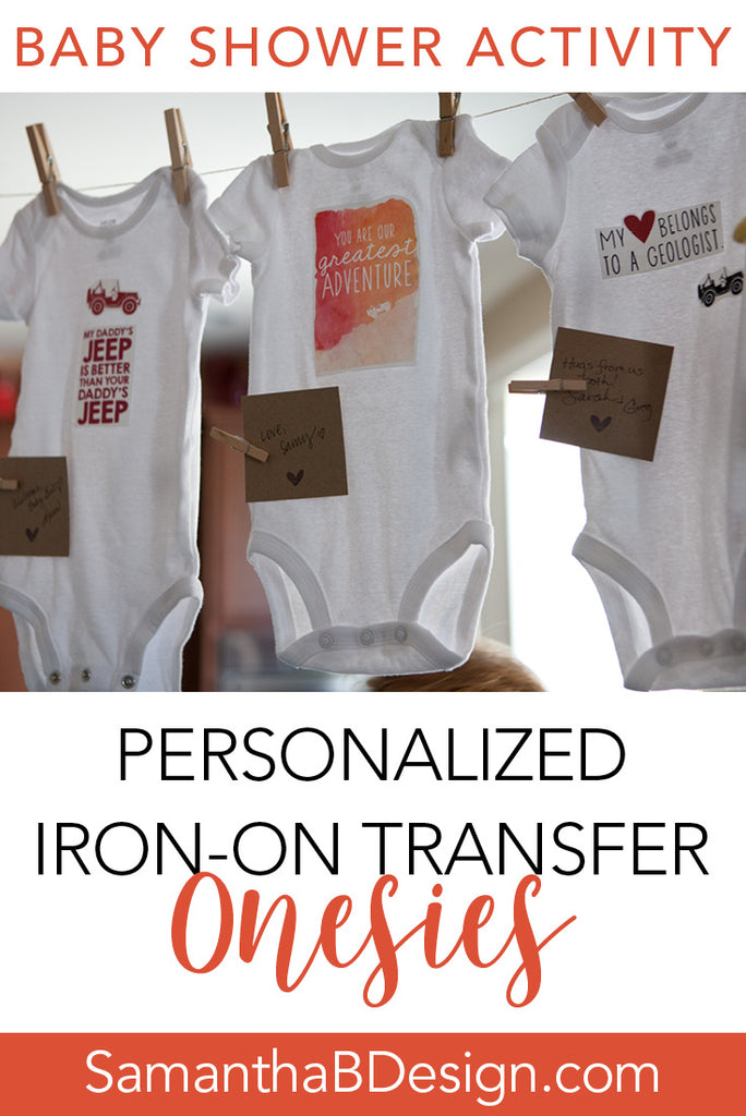 Iron-on Transfer Onesie Station at Baby Shower