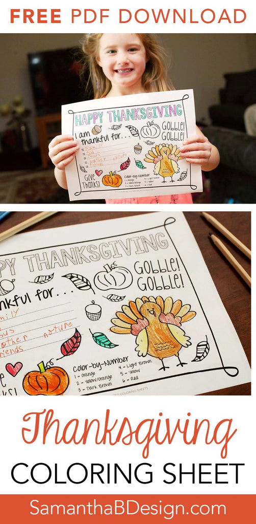 Free Thanksgiving Coloring Sheet