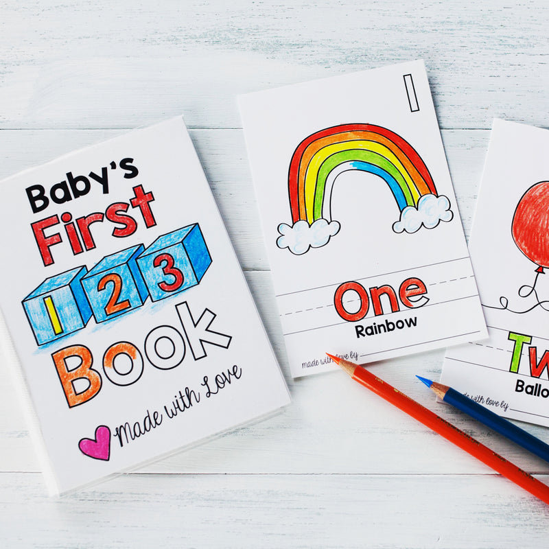 "Baby's First 123 Book Printable PDF Download | 5x7"" Final Size"