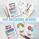 "ABC Book and 123 Book Bestselling Bundle PDF Download | 8.5x11"" Final Size"